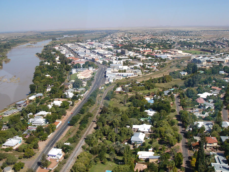 Enlarge upington areal view